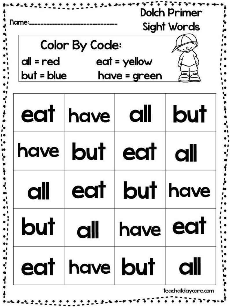 Free Printable Vocabulary Worksheets For Kindergarten