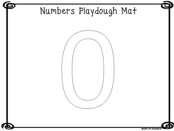 21 Printable Numbers Play Dough Mats  Worksheets. Numbers 0-20. Preschool-Kindergarten Numbers and Math.