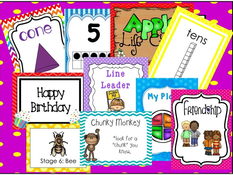 Anchor Charts And Posters Download Preschool Kindergarten Class Postes In PDF