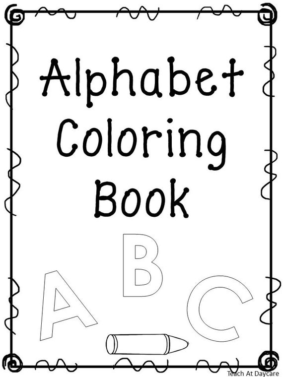27 Printable Alphabet Coloring Book Worksheets. Preschool-KDG Phonics.
