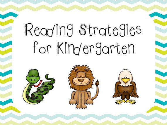 8 Printable Kindergarten Reading Strategies Posters. Full ... |Kindergarten Reading Strategies Poster