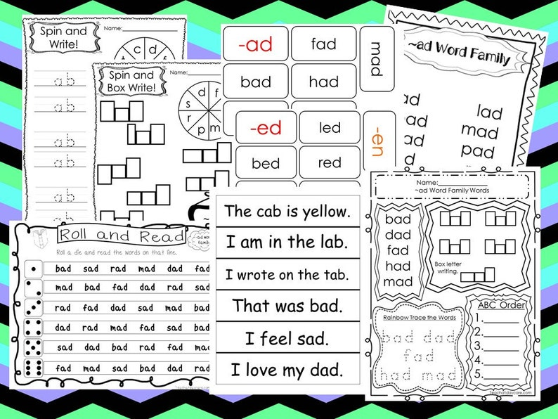 graphic about Word Family Printable called 200 Printable Phrase People Flashcards, Worksheets, and Pursuits Down load. Preschool-1st Quality. inside PDF documents.