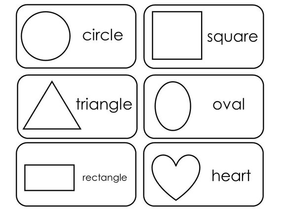 29 Printable 2D and 3D Shapes Flashcards. Preschool-3rd ...