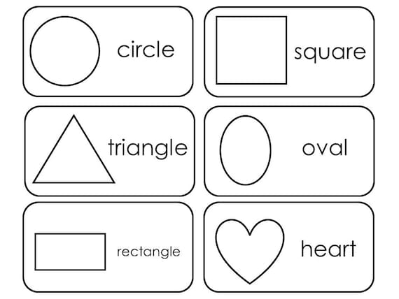 29 Printable 2d And 3d Shapes Flashcards Preschool 3rd Grade Etsy