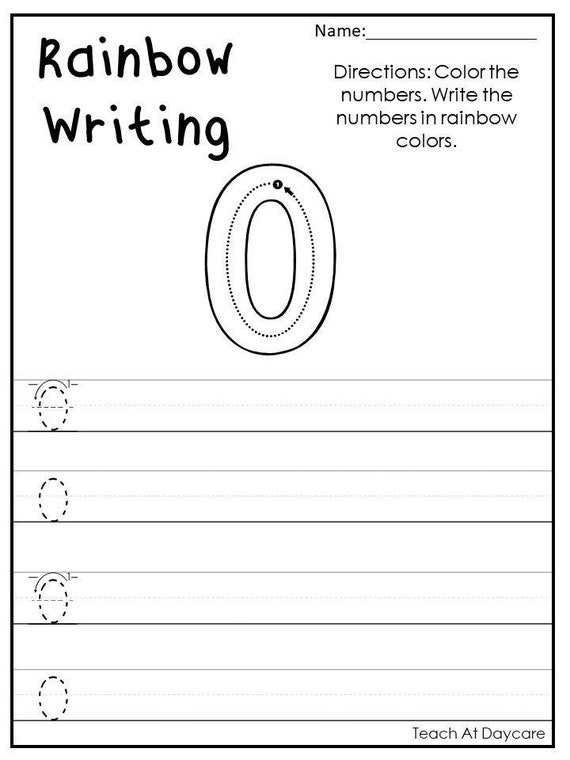 0-100 Rainbow Write The Numbers Printable Worksheets In A PDF Etsy