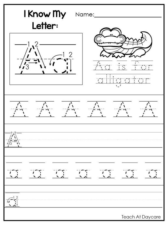26 Printable Alphabet I Know My Letters Worksheets