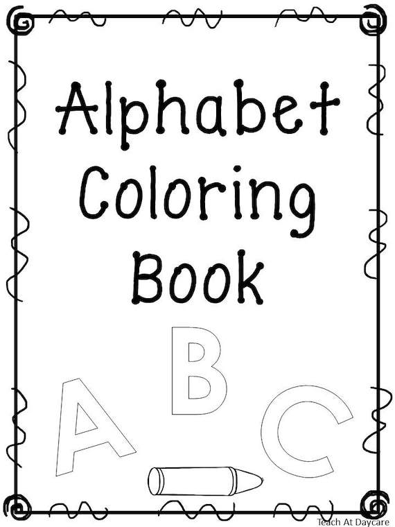 27 Printable Alphabet Coloring Book Worksheets. Preschool-KDG Etsy
