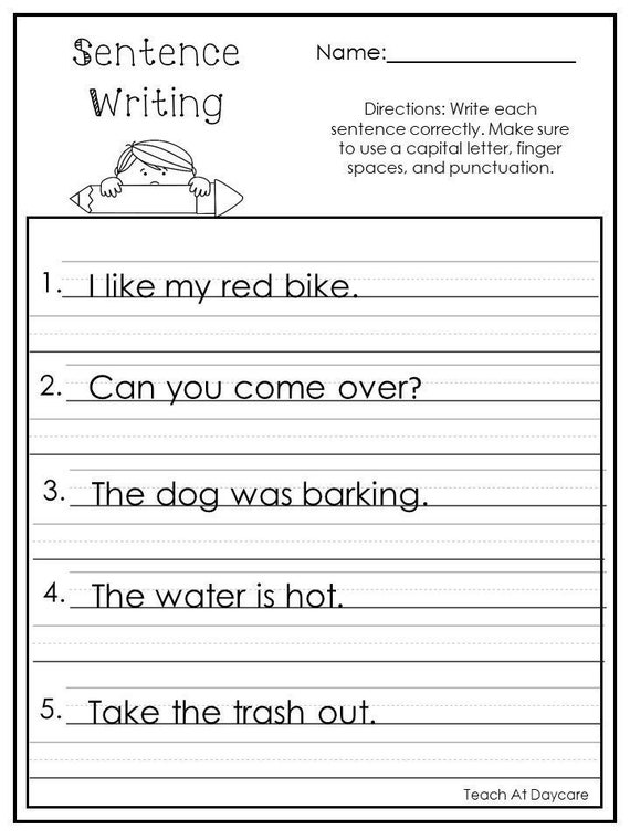 10 Printable Write The Sentence Worksheets. 1st-3rd Grade ELA Etsy