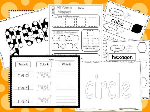 Colors And Shapes Curriculum Download. Preschool