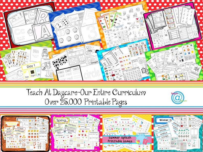 Our Entire Preschool Curriculum Download. Prints over 25000 image 0