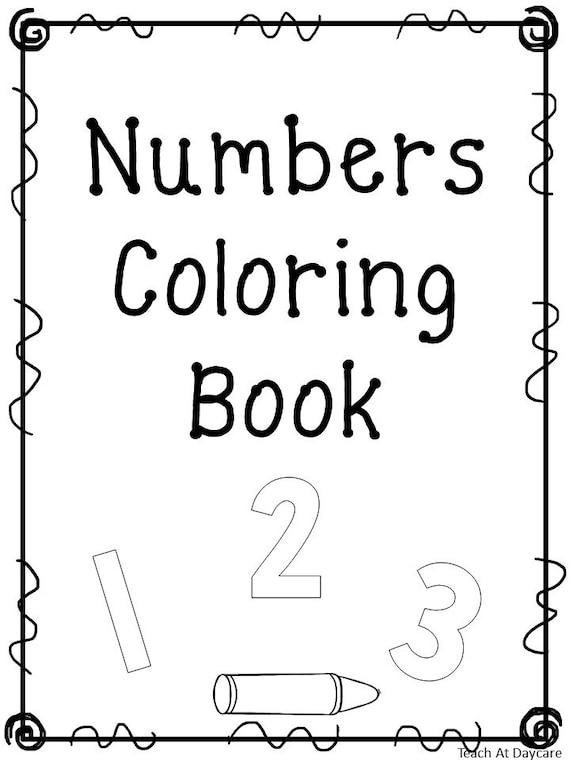 21 Printable Number Coloring Book Worksheets. Numbers 1-20 ...