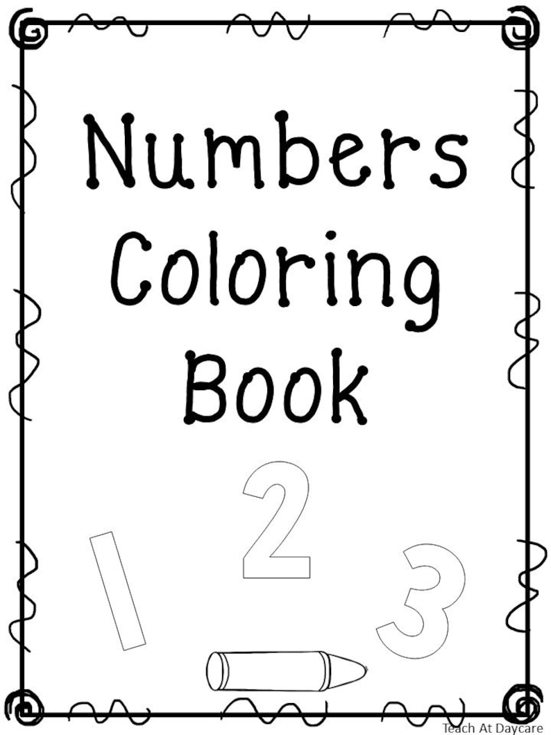 photo about Printable Number Line 1-20 titled 21 Printable Quantity Coloring Ebook Worksheets. Quantities 1-20. Preschool-Kindergarten Figures and Math.