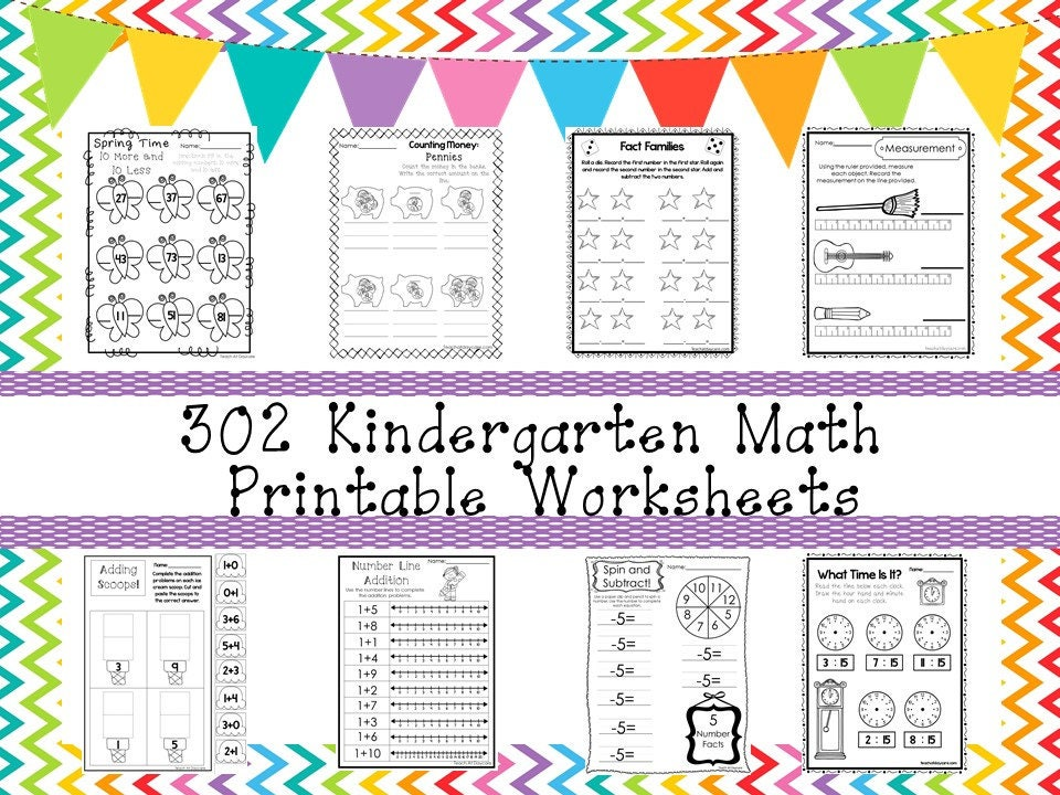 302 Kindergarten Mathematik Arbeitsblätter herunterladen. | Etsy