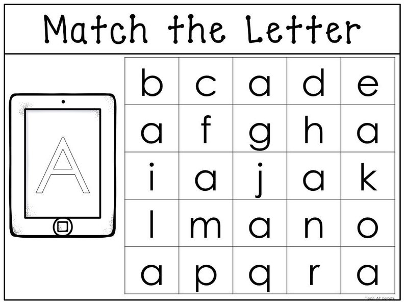 picture about Upper Case Letters Printable referred to as 26 Printable Game the Lowercase toward the Uppercase Letters Worksheets. Preschool-KDG Phonics.