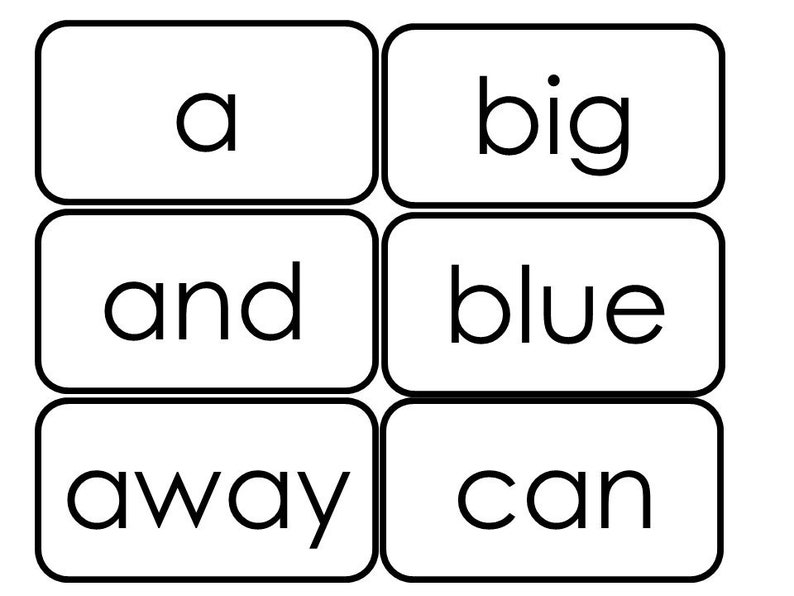40 Printable Dolch Pre-Primer Sight Word Flashcards  Pre-K Sight Word  Flashcards