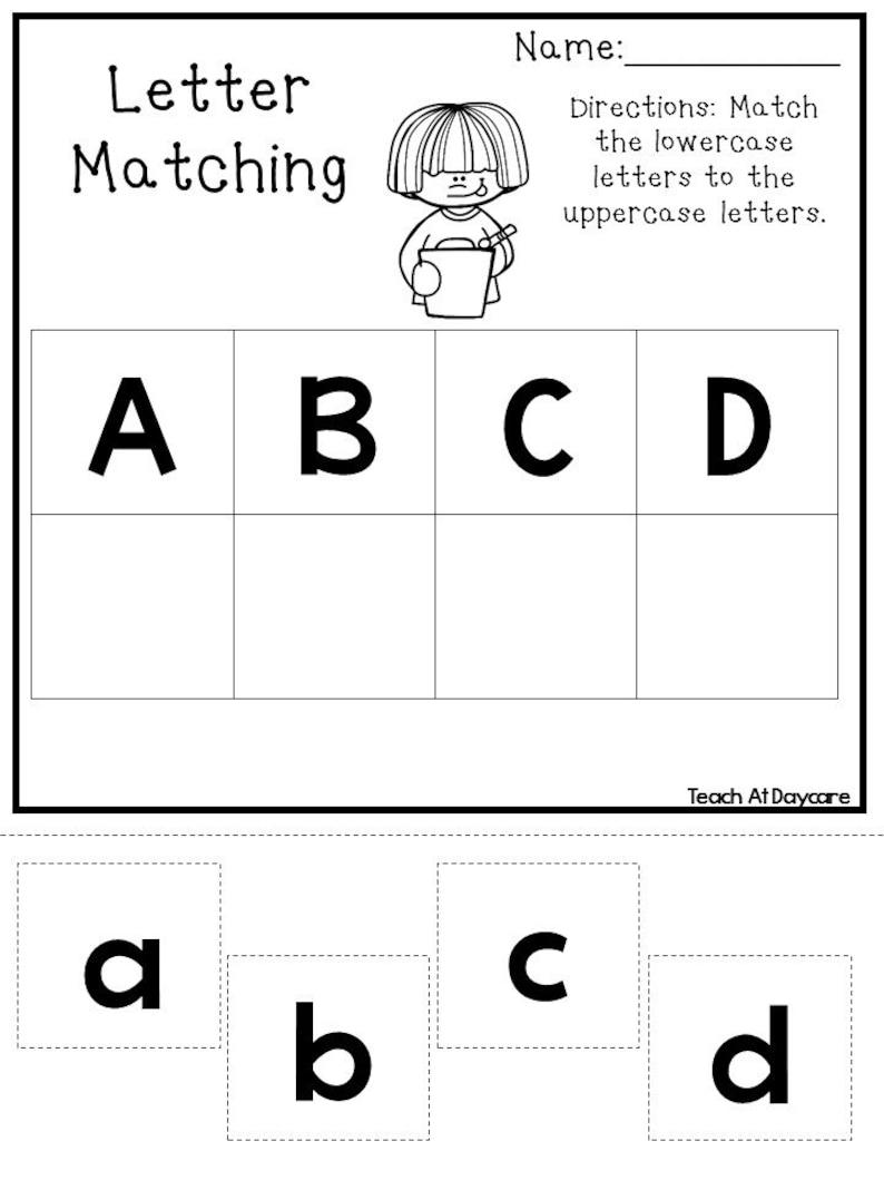 21 Printable Alphabet Matching Worksheets. Preschool-KDG ...
