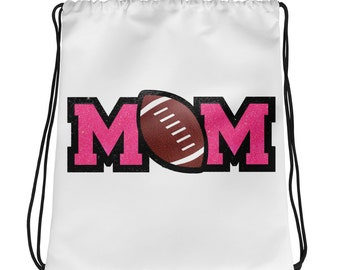 FOOTBALL MOM Drawstring bag