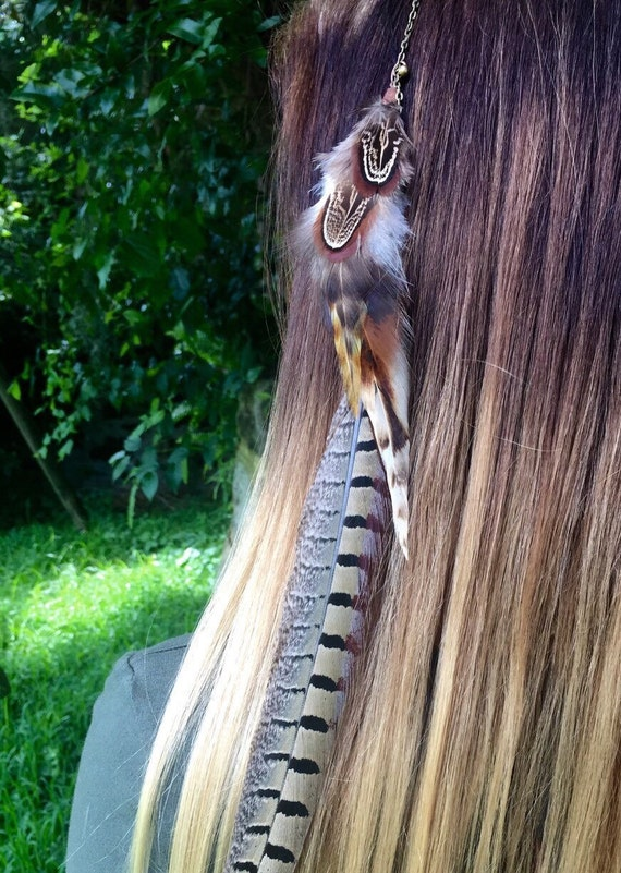 Feather Hair Extensions Feather Clips Extensions Hair Etsy