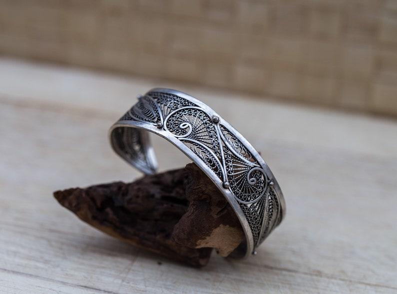 cuff bracelet sterling silver filigree jewlery bridal bracelet vintage filigree silver bracelet filigree bangle Filigree bracelet