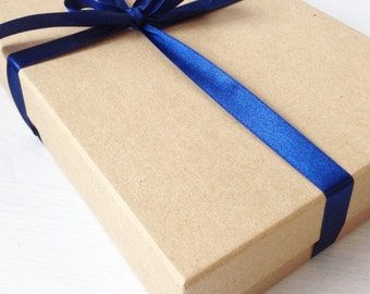 Gift box, gift boxes with lid, large gift box, A5 kraft brown gift box, gift box add on, wedding gift box, gift wrapping