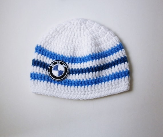 Baby bmw logo hat Boy cute hat Knitted baby clothes Dads girl hat