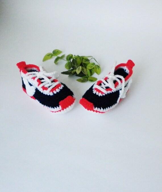 Rot TurnschuheGestrickte Mädchen Häkeln Nike Niedlichen Baby BabyschuheBootiesNeugeborene jqUMGLSzVp