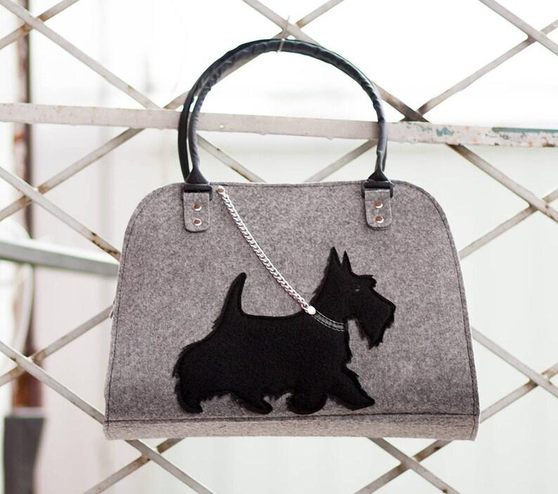 a0ea46a8a5 Sac chien chien sac à main Feutre sac à main sacs à | Etsy