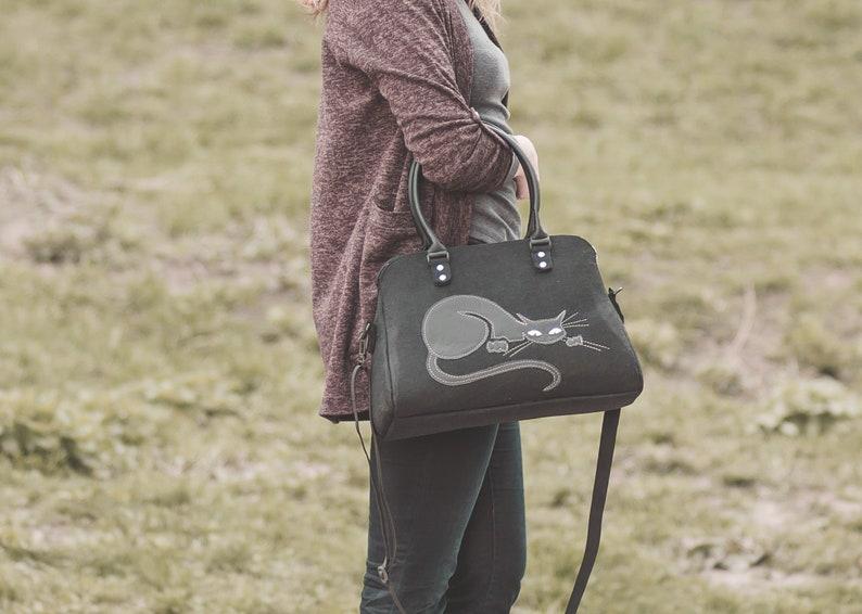 Cat purse Shoulder bag Handbag Gift for her Gift for wife image 0