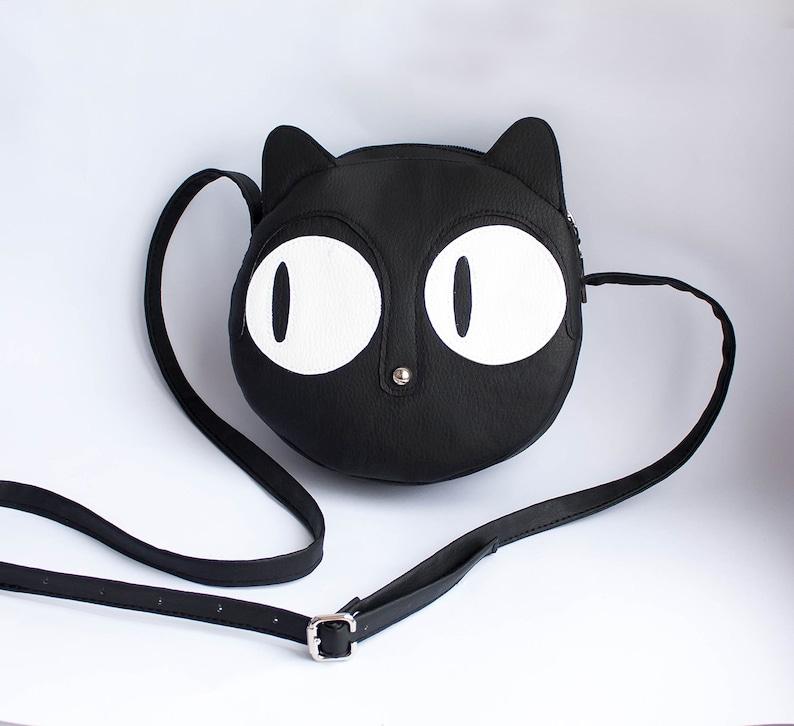Small Crossbody bag Shoulder bag Small crossbody purse Crossbody bag with  cat design Cat purse Small purse Women's bag Volaris