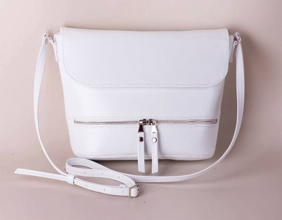 various colors classic delicate colors White crossbody bag White purse Small purse Sling bag Vegan bag Handbag  White crossbody Gift for her Shoulder bag Crossbody purse purse