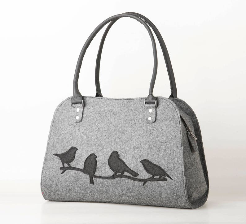 9f24c41a921f Sparrow handbag Black bird purse bird on branch bag Sparrows