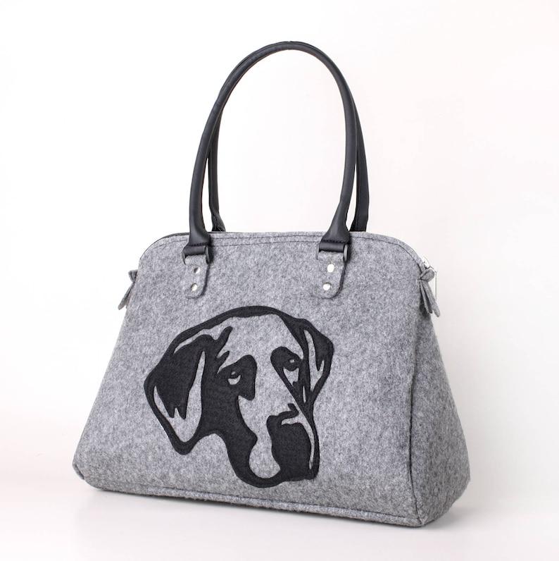 382afac518 Shoulder bag Dog bag Felt handbag Tote bag Dog purse Shopper