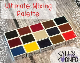 Jane Blundell's Ultimate Mixing Set -  Hand-Poured Half Pans of Fine Art Watercolor Paint by DS