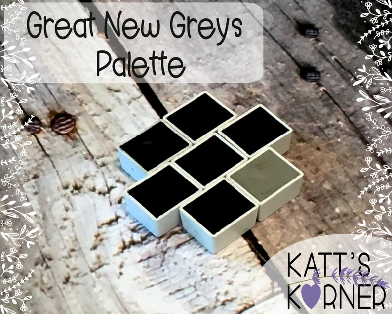 Great New Greys Palette Set 2019  Hand Poured Daniel Smith image 0