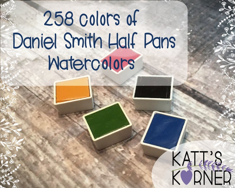 All DS Half Pan Colors Available  Daniel Smith Watercolors  image 0