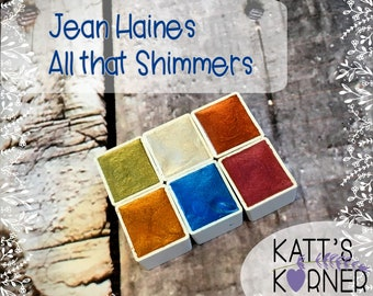 Jean Haines' All that Shimmers Palette of DS's Fine Artist Watercolors in Half Pans