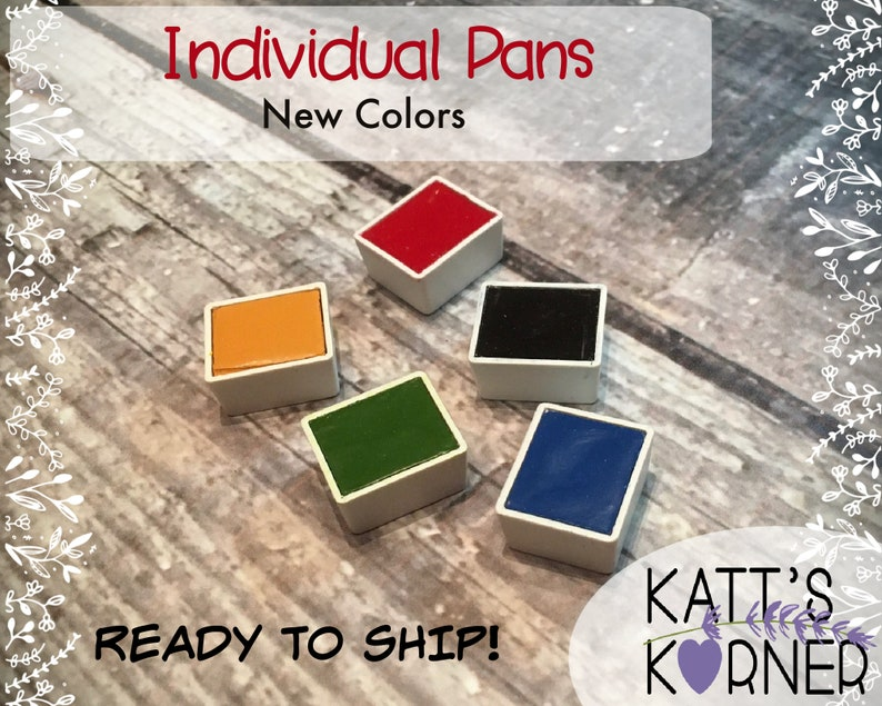 New Colors Individual Daniel Smith Watercolor Half Pans  image 0