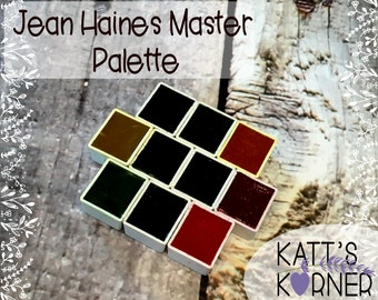 Jean Haines' Master Palette of DS Watercolors in Half Pans