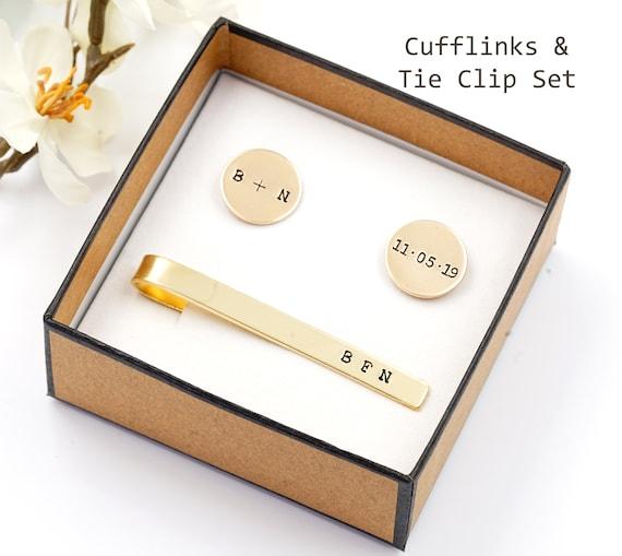 Wedding Party Groomsmen Gifts Set of 5 Tie Bars Tie Clips