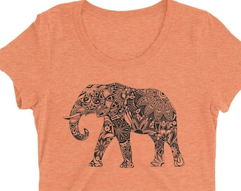 d663c346e Elephant Tshirt - Elephant T Shirt - Elephant Tee - Graphic Tee For Women -  Gift for Her - Ladies Tshirt - Triblend Tshirt
