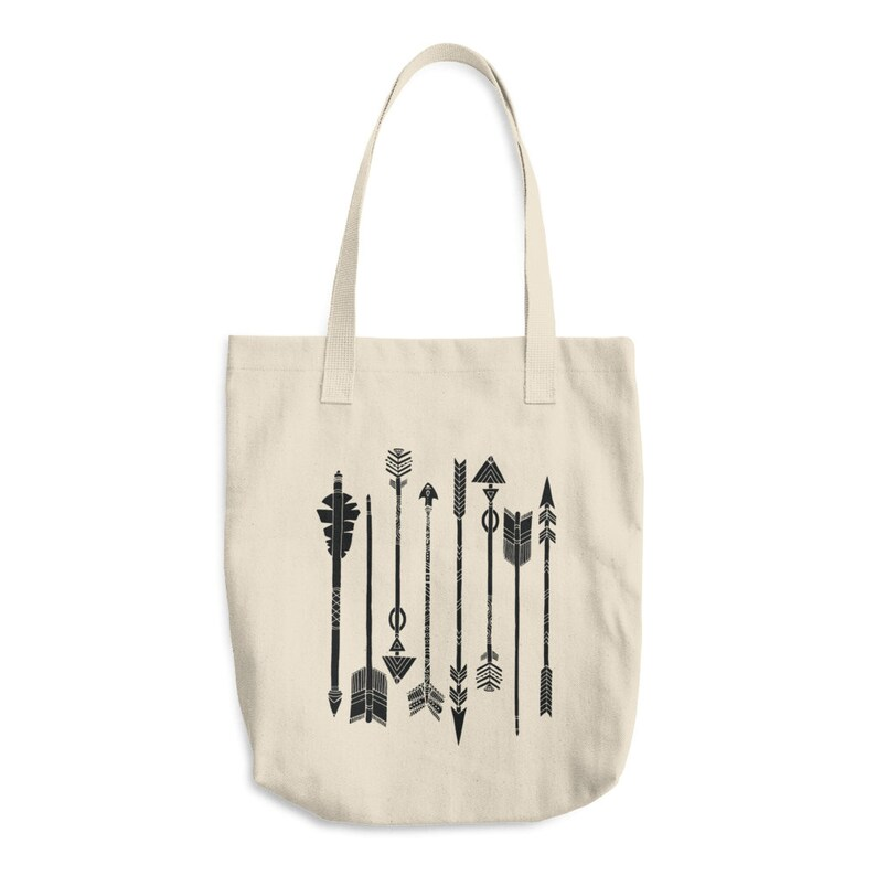 Canvas Tote Bag Arrows tote bag Arrows Tote bag printed canvas tote bag gift for women
