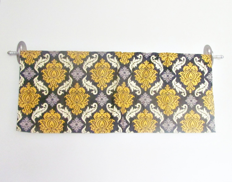 jupe jaune valence de damas gris rideau jaune et gris etsy. Black Bedroom Furniture Sets. Home Design Ideas