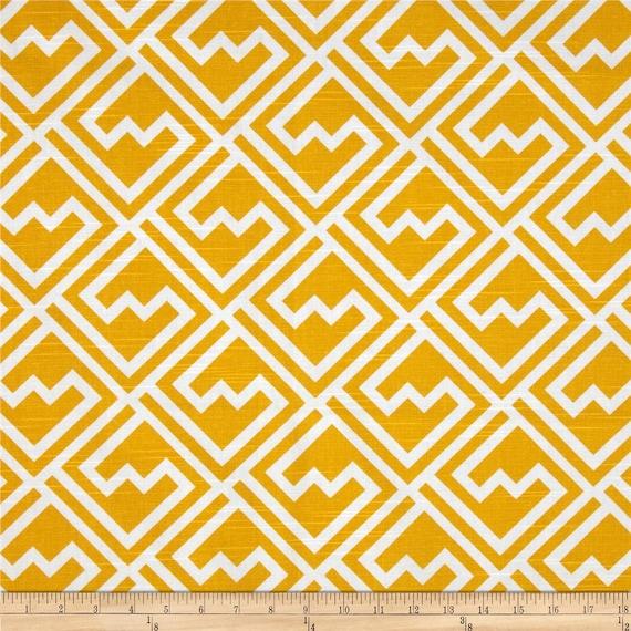Yellow Valance. Yellow Geometric Valance .Kitchen Valance. Bedroom valance.