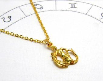 Aquarius Necklace Aquarius zodiac necklace gold Aquarius necklace for women dainty necklace delicate necklace zodiac constellation necklace