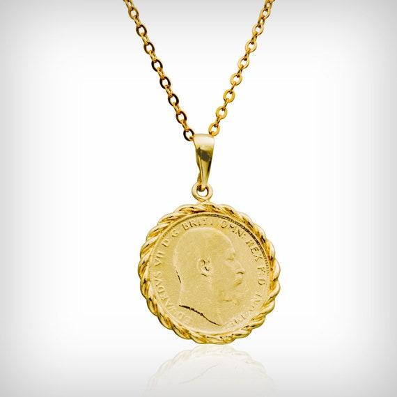 Goldene Halskette 059 Zoll Britische Münze Gold Etsy
