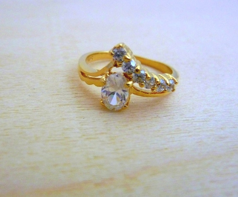 Birthstone ring  gold filled ring delicate ring gift for her image 0