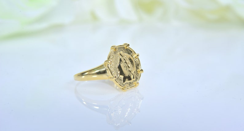 fbe8f0f44da8b Coin Ring for women -Gold Filled gold coin ring Coin Jewelry gift for her  or him signet coin ring empereur napoleon unisex ring