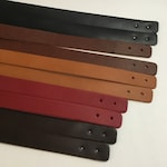 "5 Pair-1"" Wide Leather Replacement Straps, Leather Purse Straps, Leather Handles, 5 Sets of Handles, 1"" Wide"