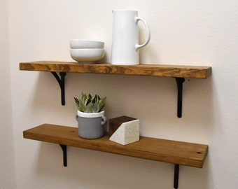 Wood Wall Shelf Etsy