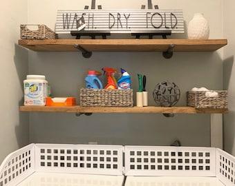 Laundry Room Shelf Etsy